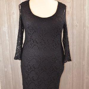 Lacy Little Black Dress ASOS PLUS SIZE 16